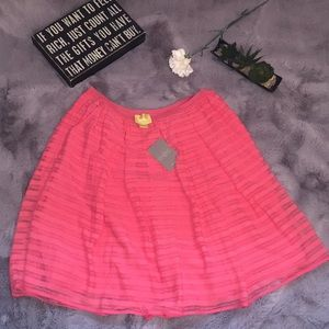 NWT! Anthropologie Maeve pink/rose pleated skirt